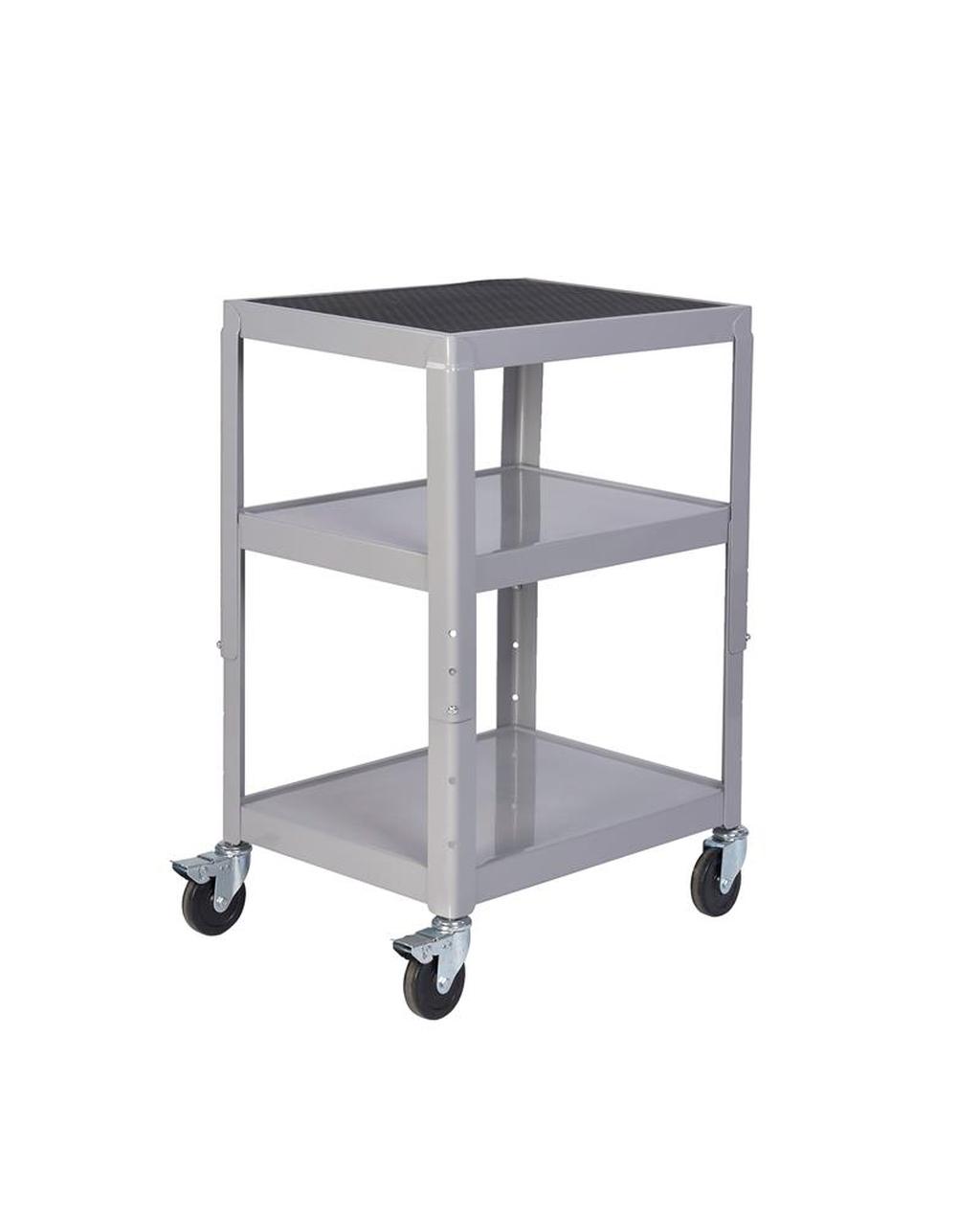 adjustable height trolley grey