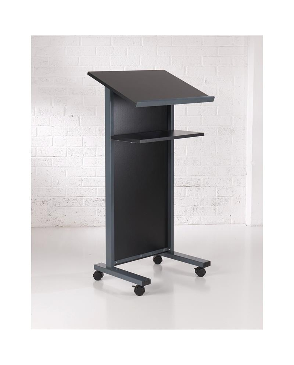 Coloured Panel Front Lectern Black