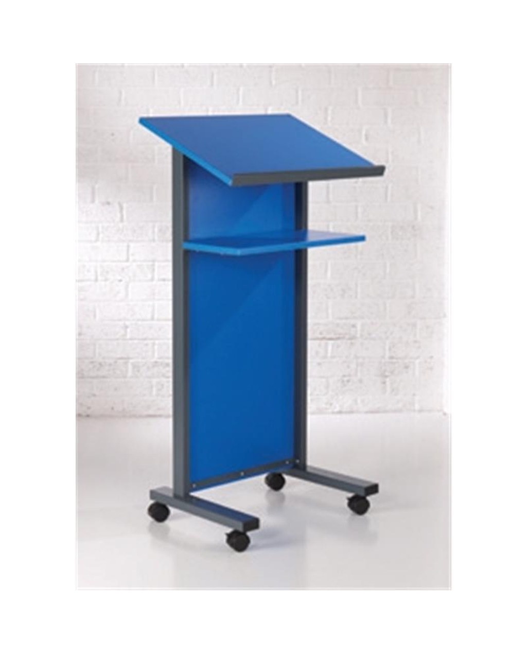 Coloured Panel Front Lectern Blue