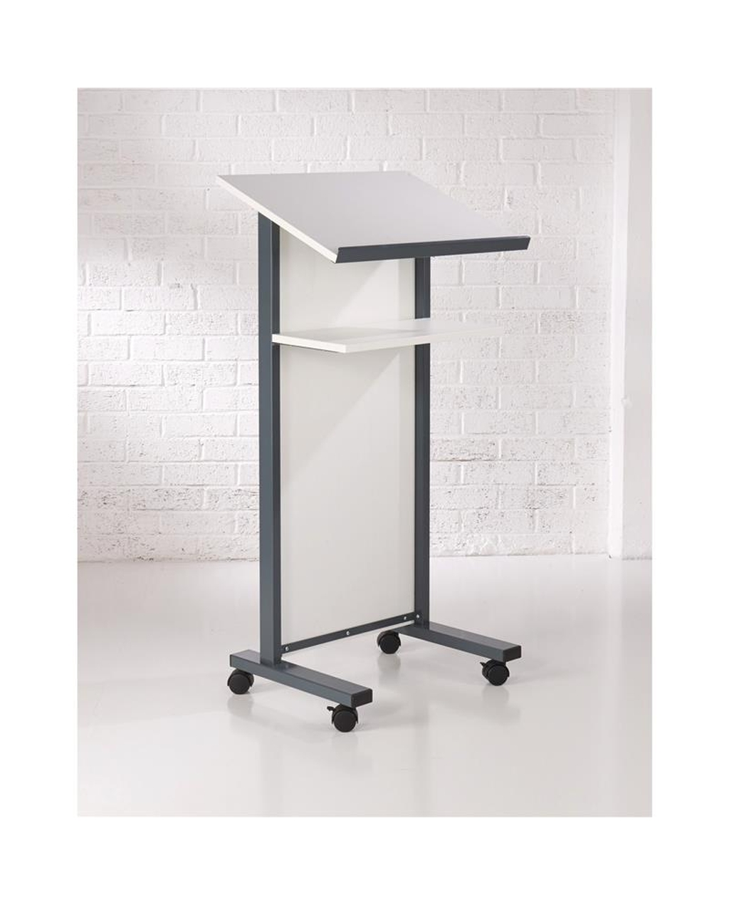 Coloured Panel Front Lectern White