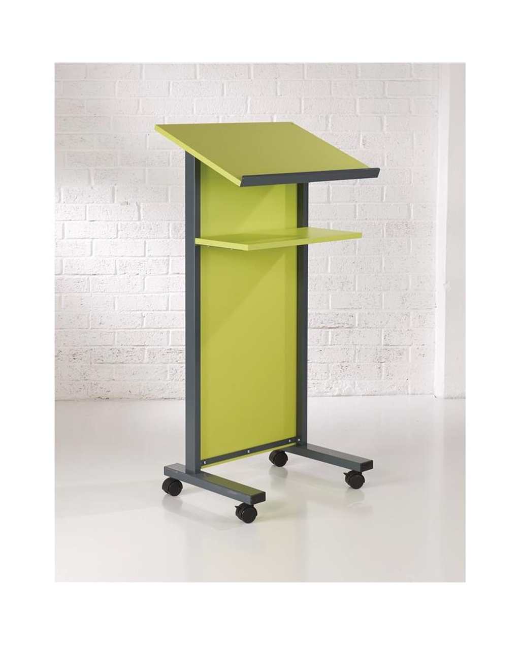 Coloured Panel Front Lectern Lime