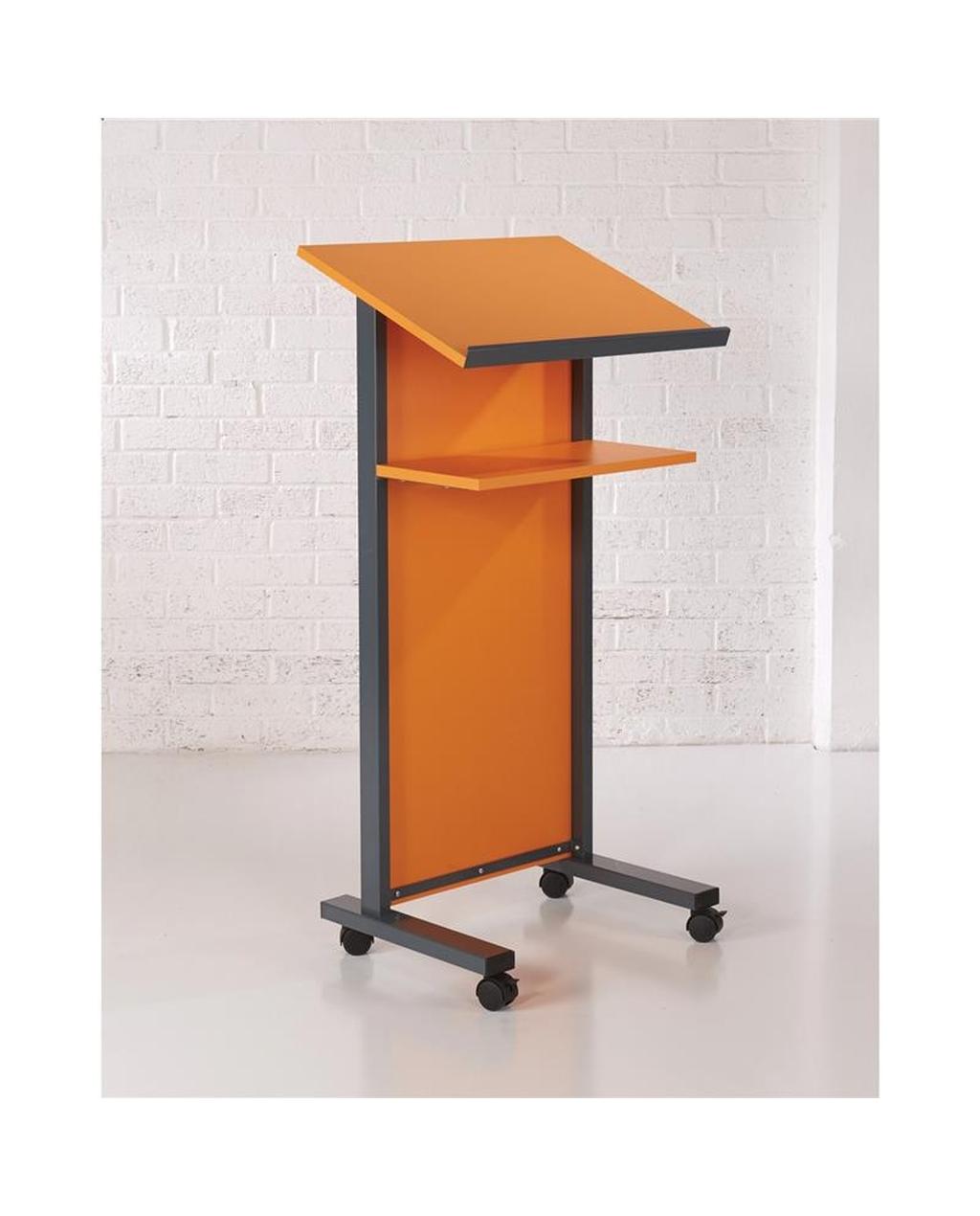 Coloured Panel Front Lectern Orange