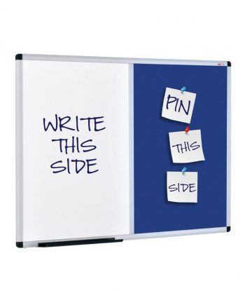 Writeon Alu Framed Dual Noticeboard 600 X 900