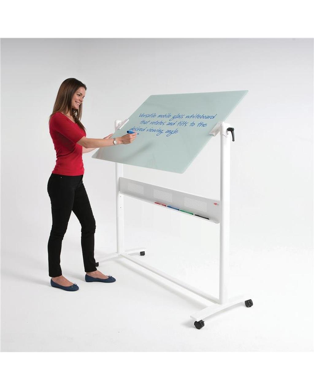 Glass Revovling Whiteboard 1200 X 900