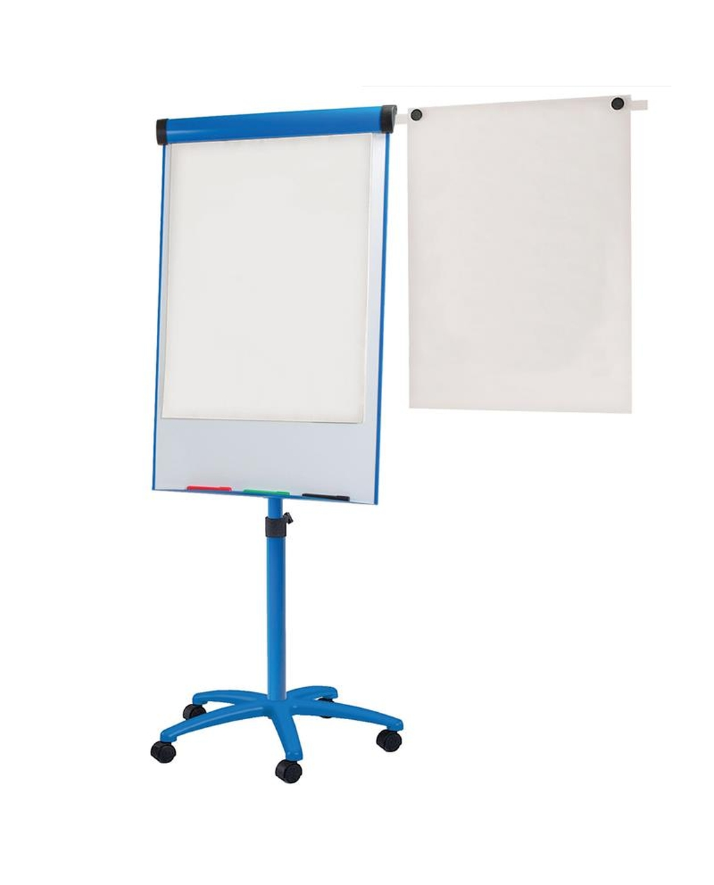 Buzzard Mobile Flipchart Easel Blue