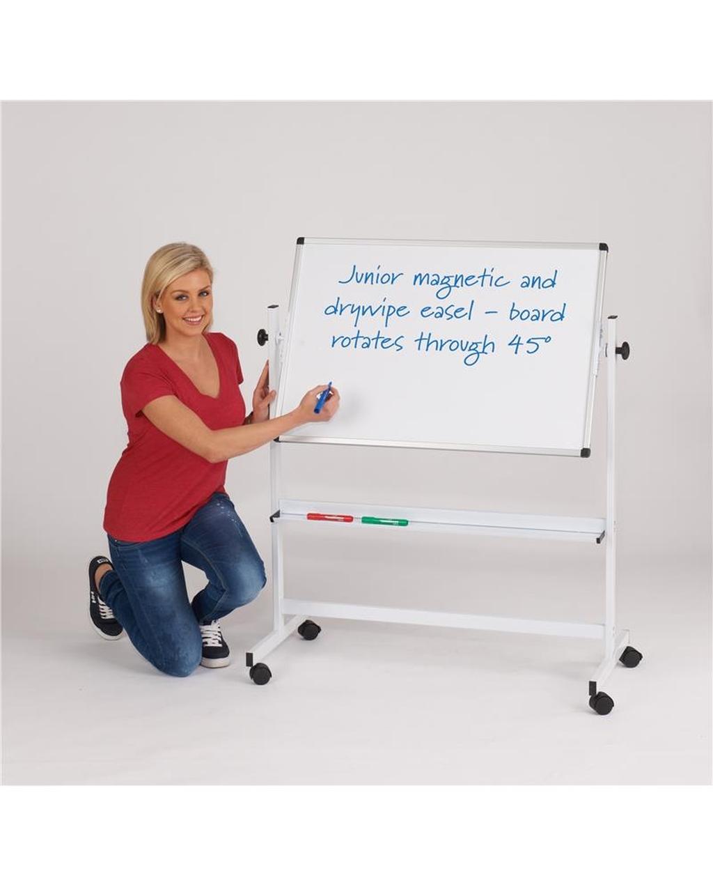 Junior Mobile Whiteboard White Frame