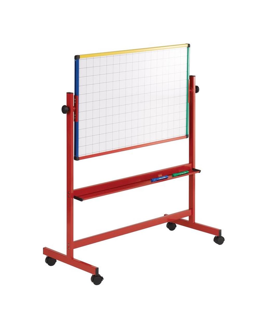 Junior Mobile Whiteboard Red Frame