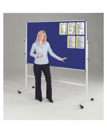 Double Sided Mobile Noticeboard 1200 X 1800