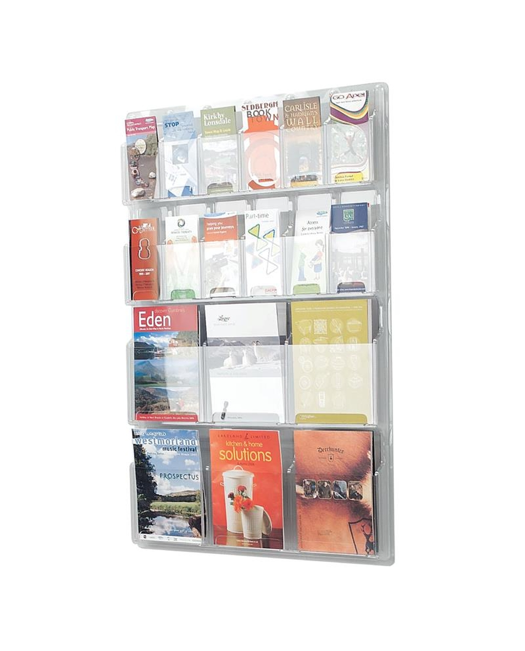 Clear Leaflet Dispenser 12  X  1/3 A4 + 6  X  A4