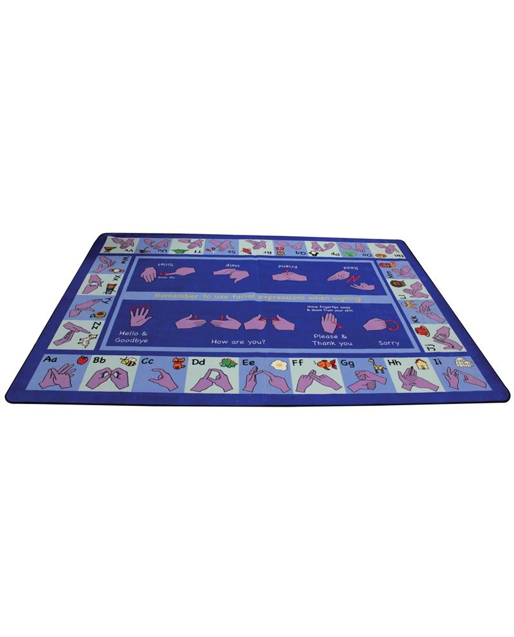 Alphabet Sign Language Rug