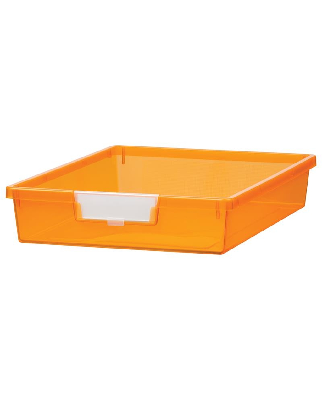 Shatterproof Single Depth Tray - Neon Orange