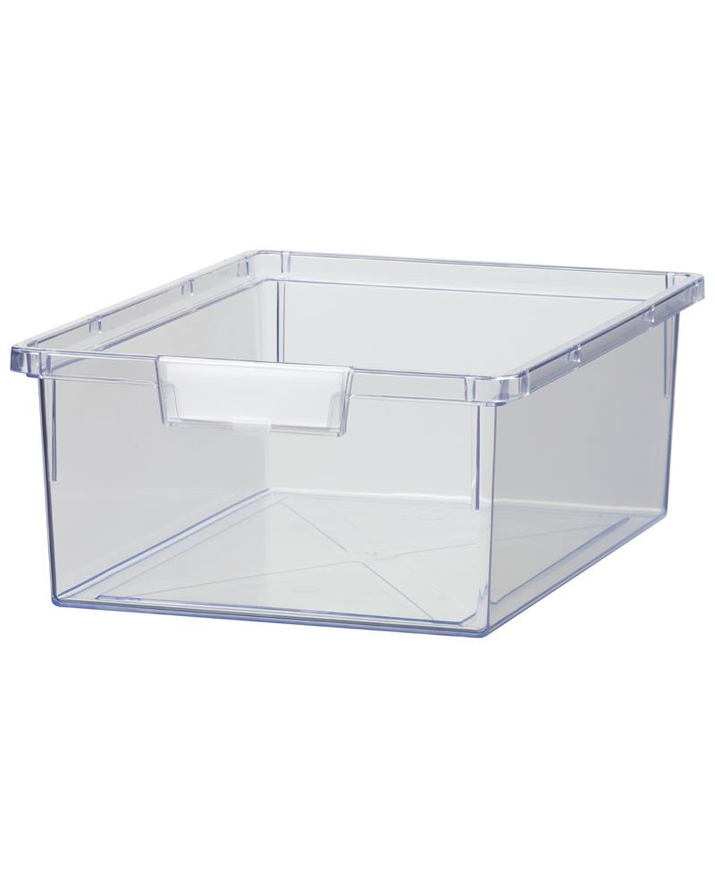 Shatterproof Double Depth Tray - Crystal Clear