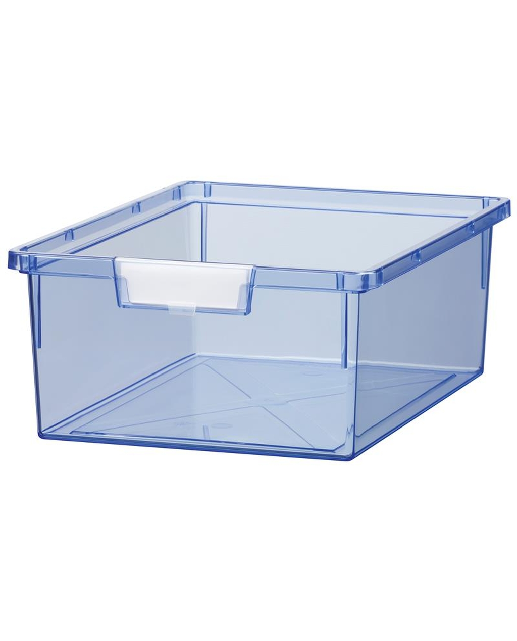 Shatterproof Double Depth Tray - Tint Blue