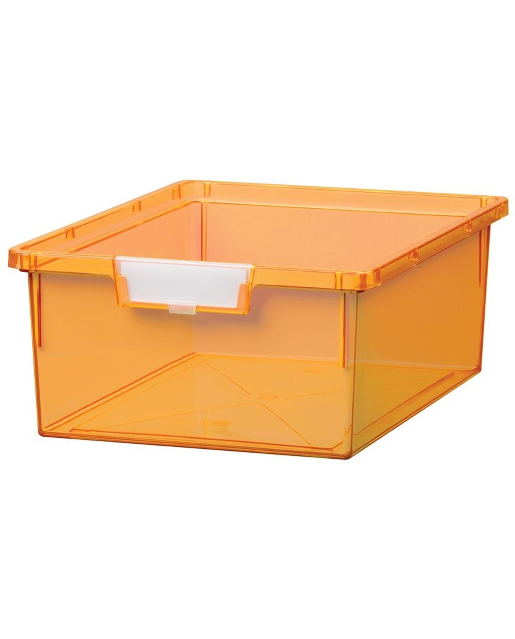 Shatterproof Double Depth Tray - Neon Orange