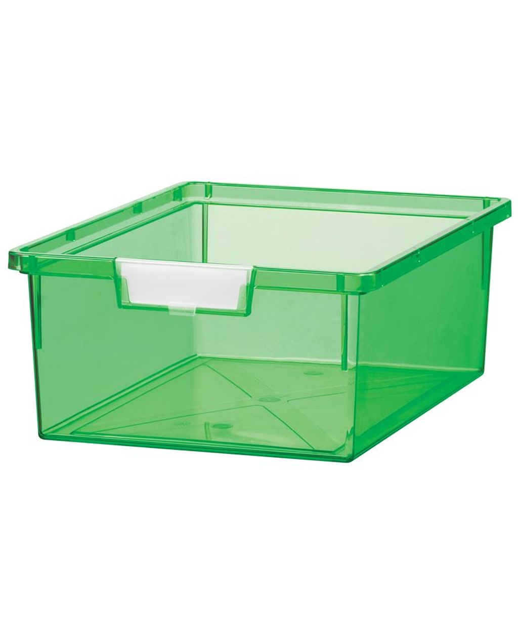 Shatterproof Double Depth Tray - Neon Green