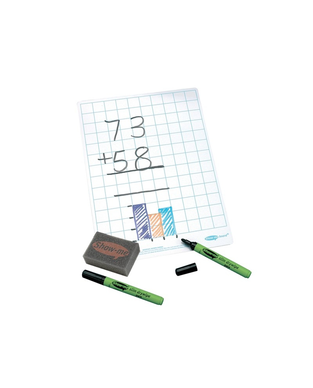 Show-me A4 Gridded Whiteboard Class Pack