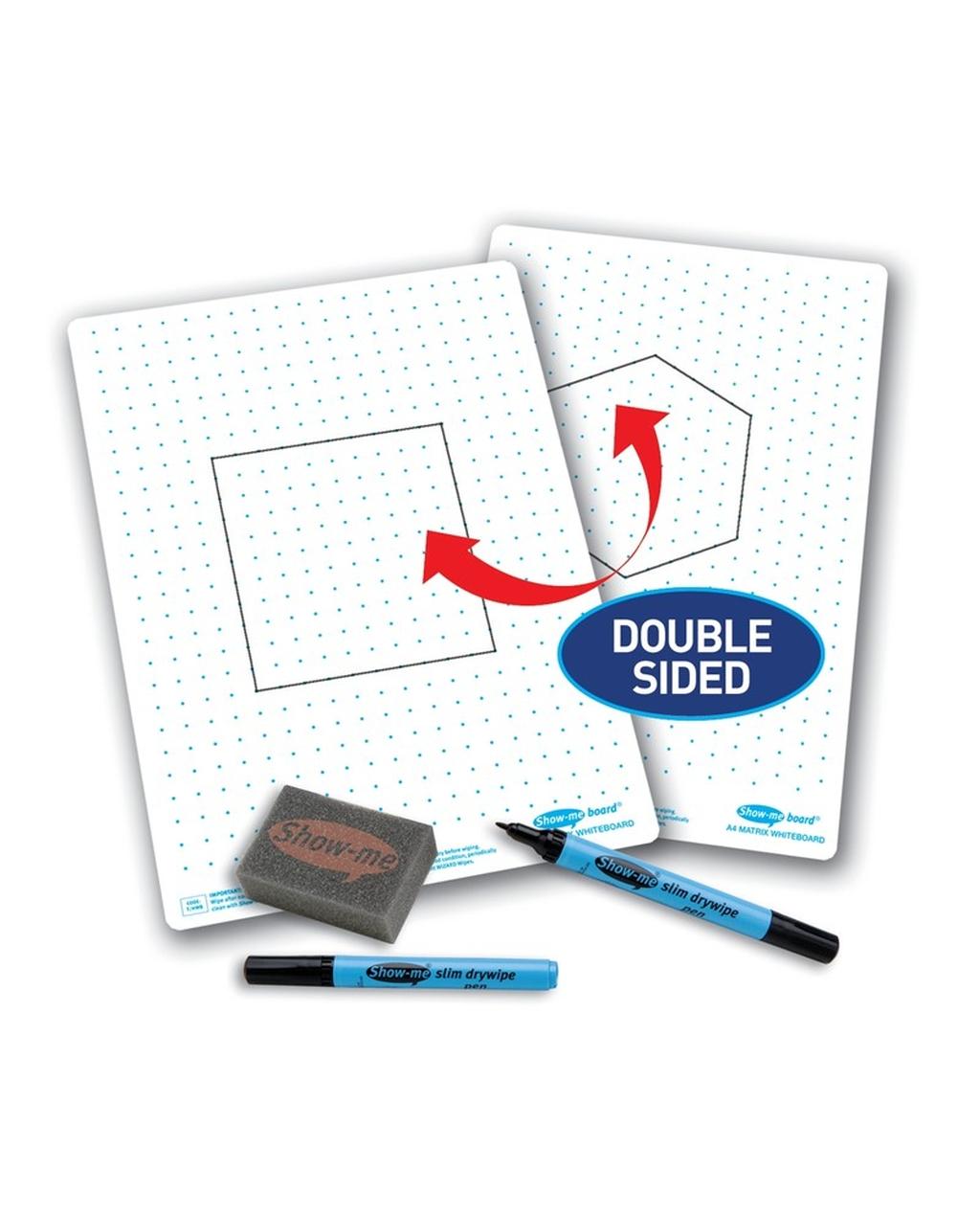 Show-me A4 Matrix Whiteboard Class Pack