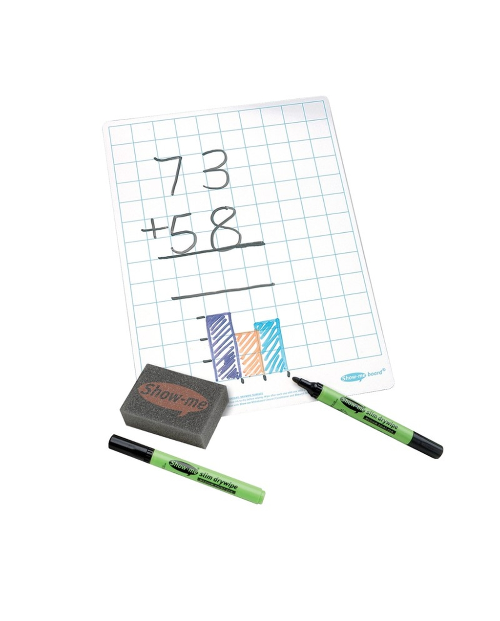 Show-me A4 Grid Whiteboard Bulk Pack - Pack of 100
