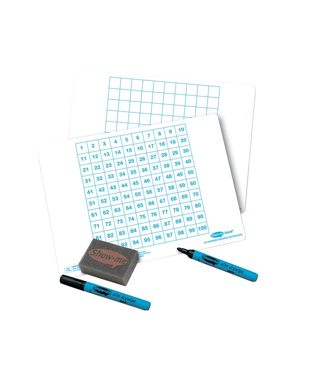 A4 100 Square Whiteboard Class Pack