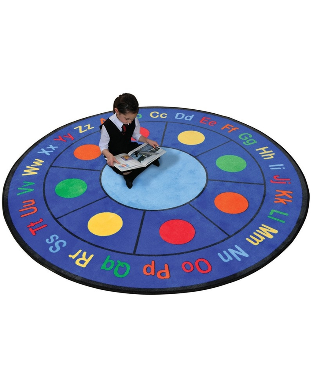 ABC Dots Learning Rug - Circular