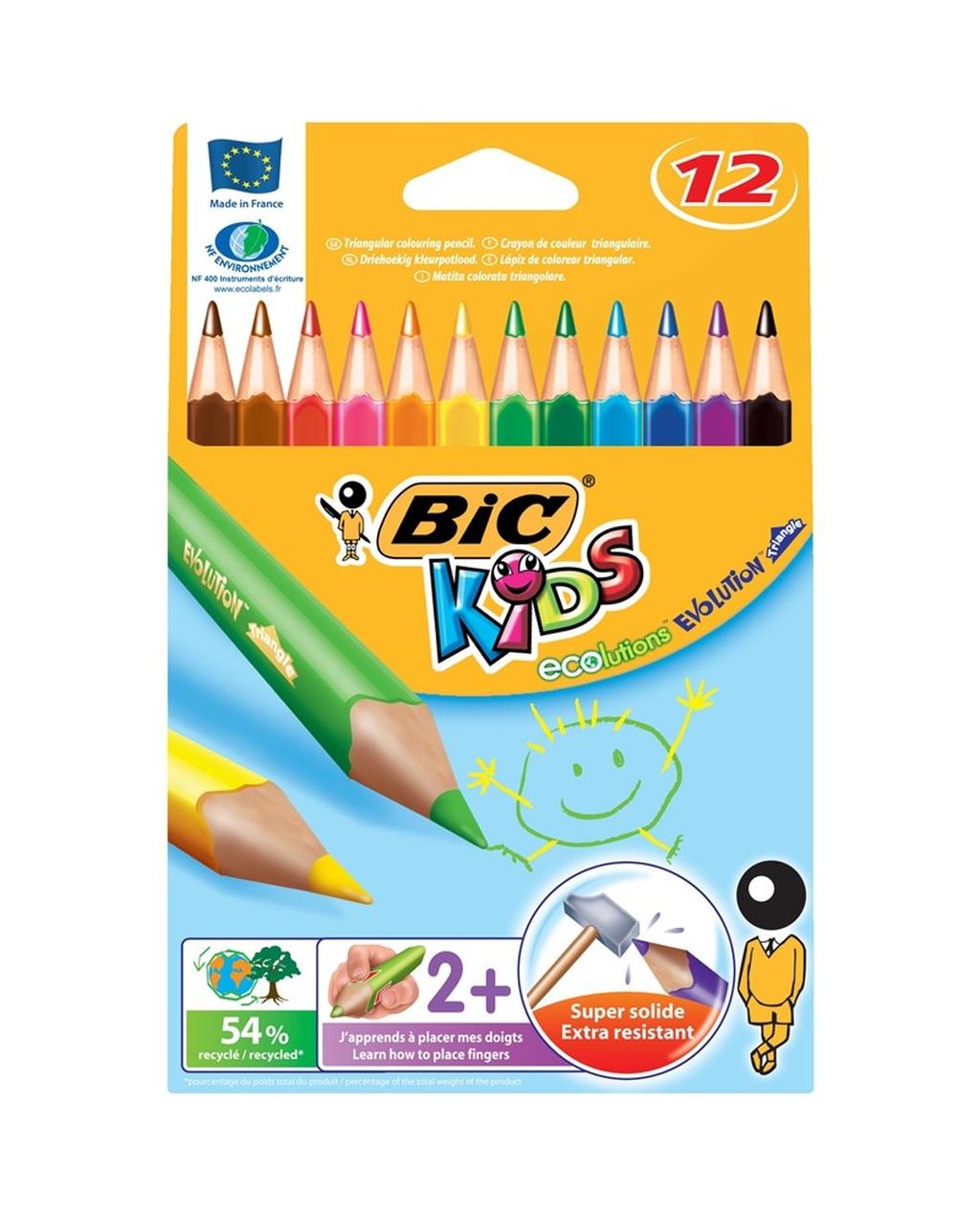 BIC Kids Evolution Jumbo Triangular Pencils
