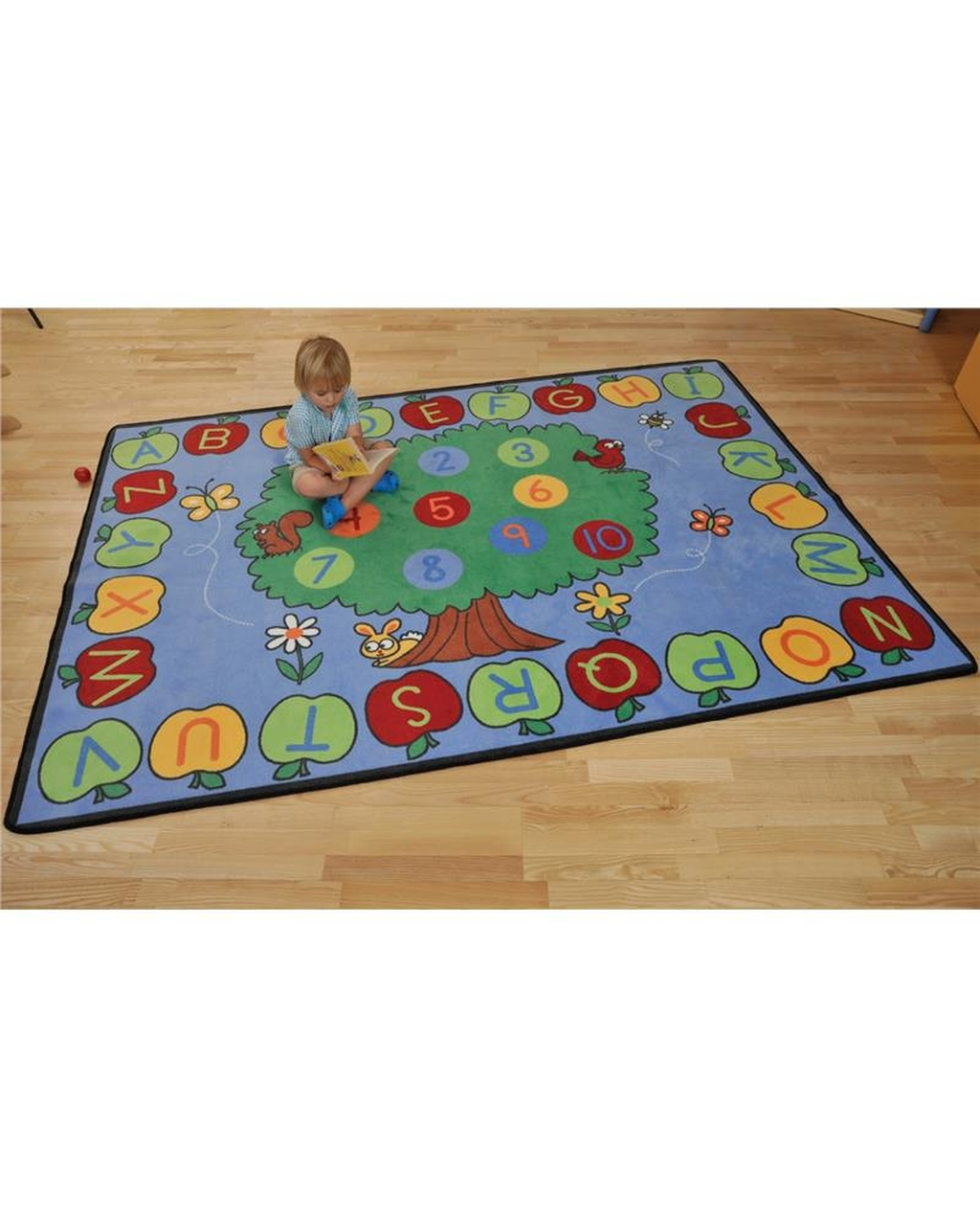 Alphabet and Numbers Rug