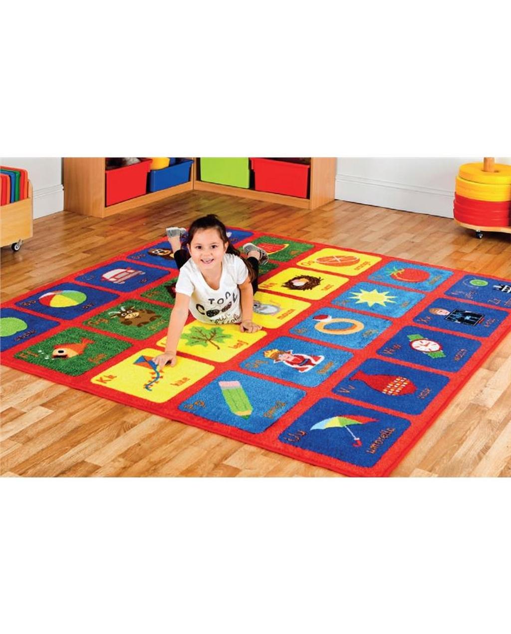 Alphabet Squares Carpet
