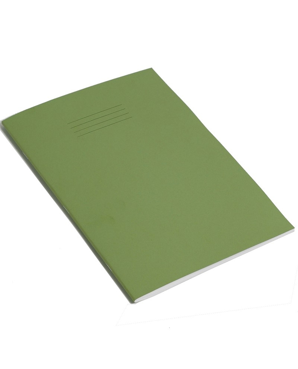 Exercise Book 9 x 7 (229 x 178mm) Light Green Cover Half 13mm Ruled & Half Plain 48 Pages