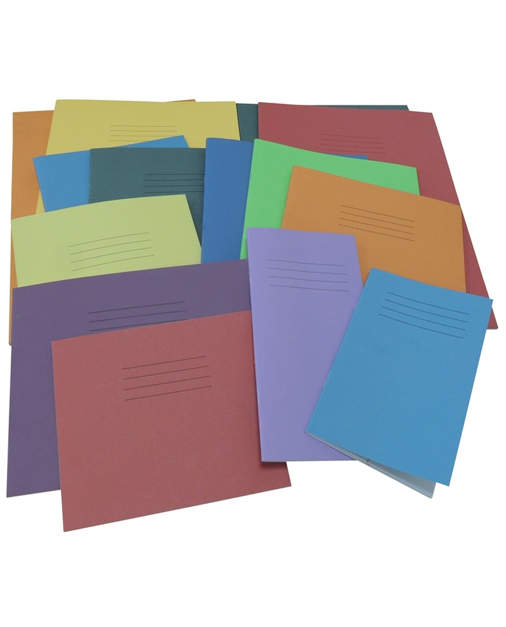 Exercise Book 10 x 12 (254 x 305mm) Landscape Assorted Cover Colours Plain - No Ruling 32 Pages