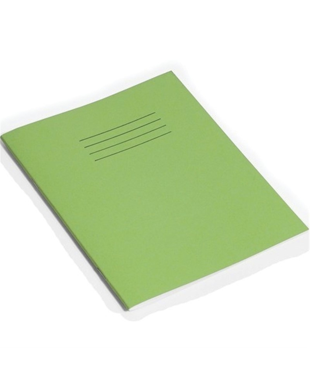 Exercise Book 9 x 7 (229 x 178mm) Light Green Cover 15mm Ruled & Margin 48 Pages