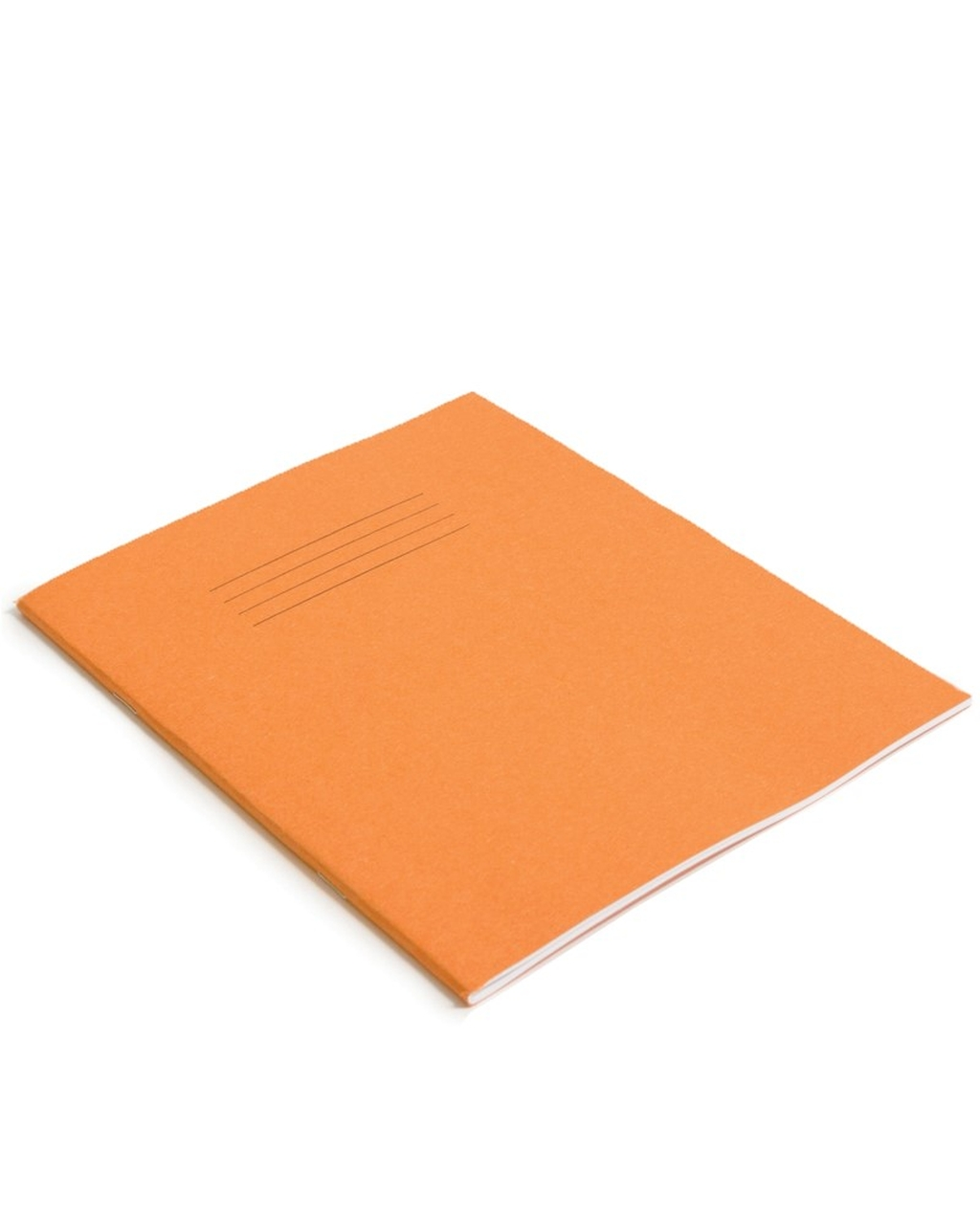 Exercise Book 9 x 7 (229 x 178mm) Orange Cover Plain - No Ruling 48 Pages