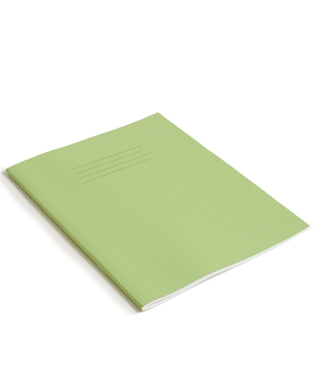 Exercise Book 9 x 7 (229 x 178mm) Light Green Cover 8mm Ruled 48 Pages