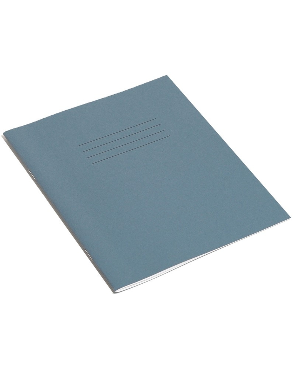 Exercise Book 8 x 6.5 (203 x 165mm) Dark Blue Cover 8mm Ruled & Margin 48 Pages