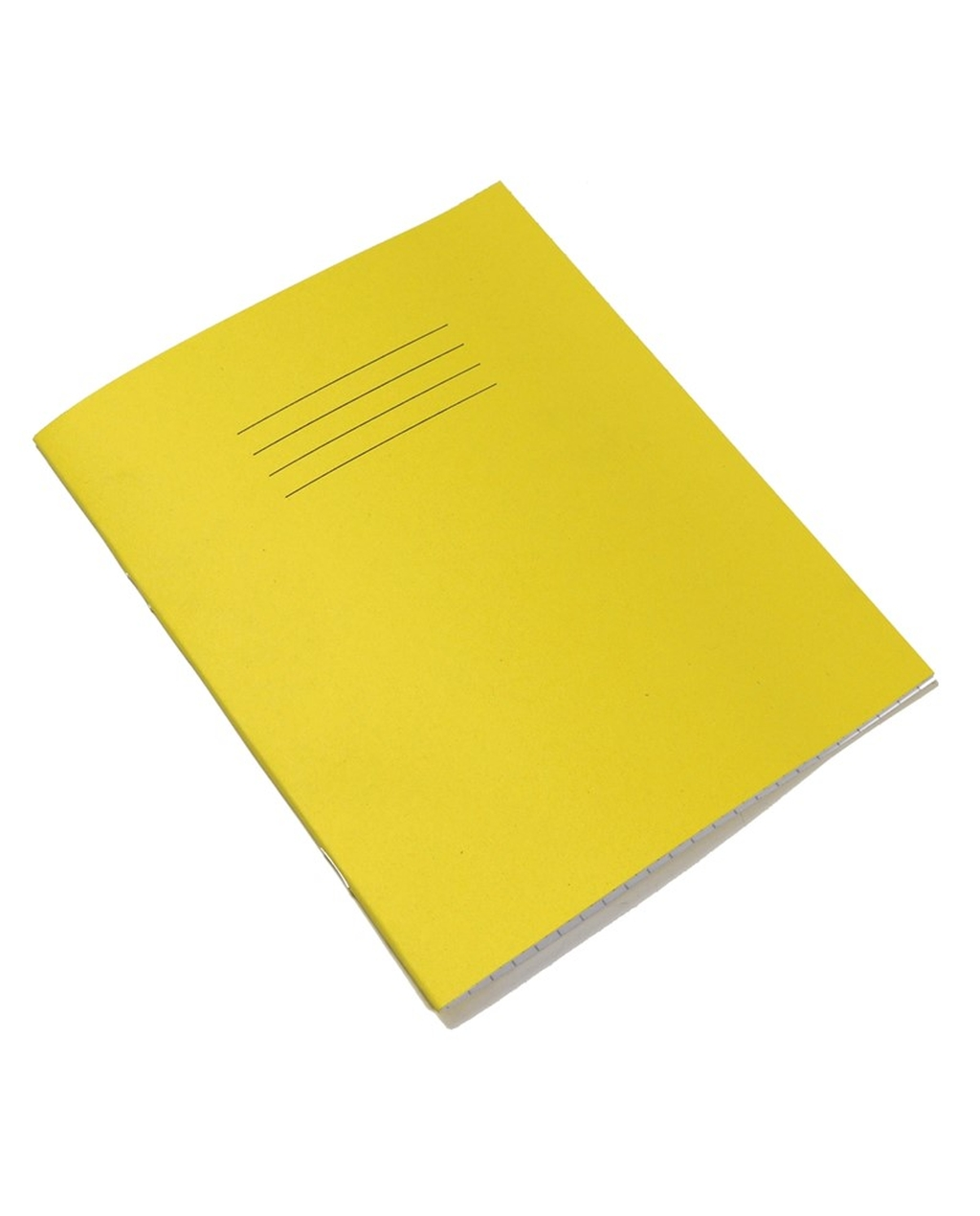 Exercise Book 8 x 6.5 (203 x 165mm) Yellow Cover 8mm Ruled & Margin 48 Pages