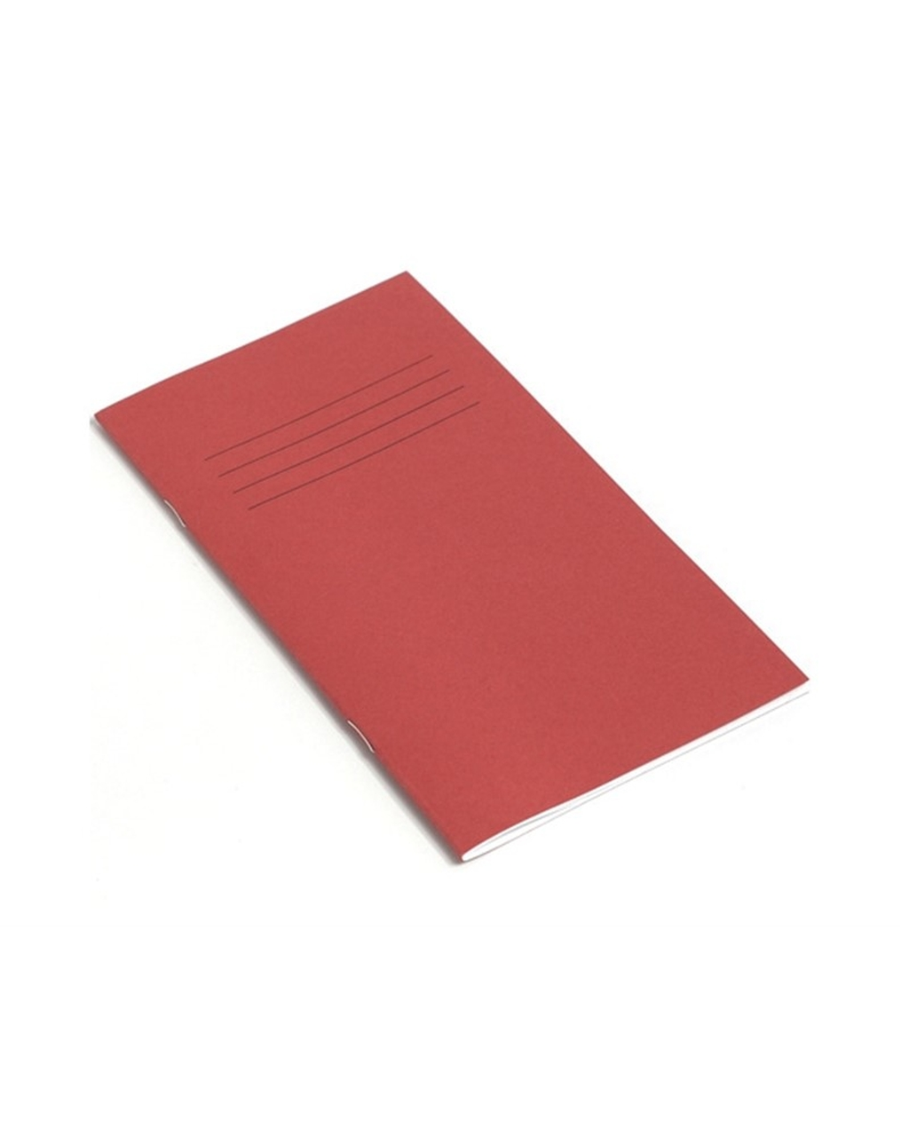 Exercise Book 8 x 4 (203 x 102mm) Red Cover 12mm Ruled 32 Pages