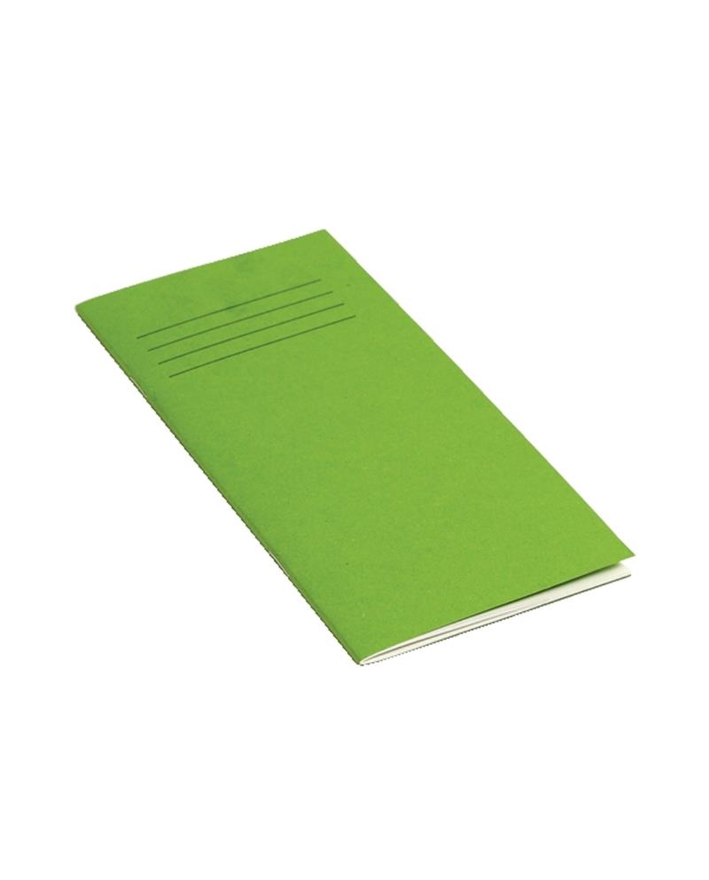 Exercise Book 8 x 4 (203 x 102mm) Light Green Cover Plain - No Ruling 32 Page