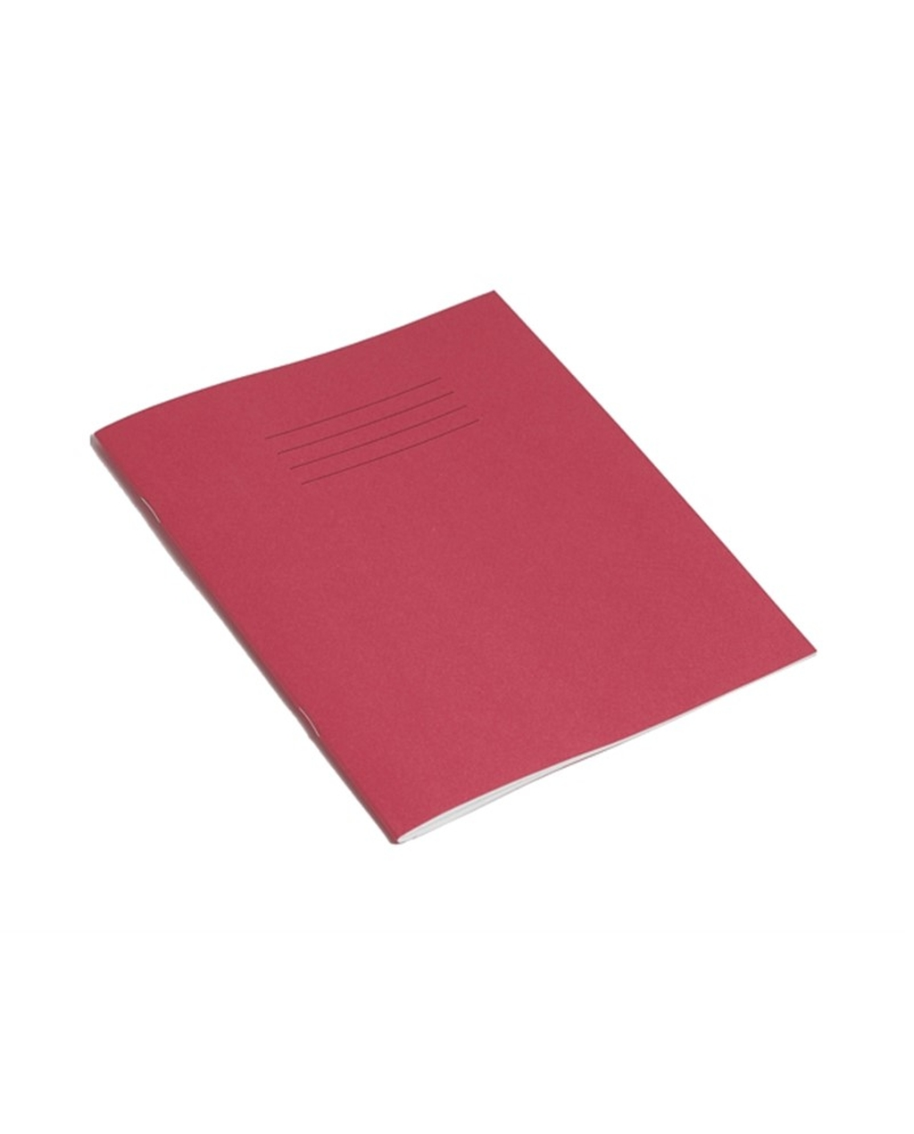Exercise Book 8 x 6.5 (203 x 165mm) Pink Cover Plain - No Ruling 48 Pages