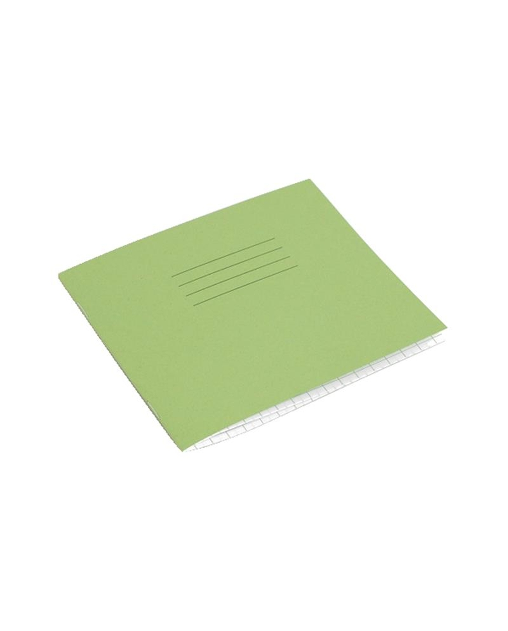 Exercise Book 5.25 x 6.5 (133 x 165mm) Light Green Cover 10mm Squares 24 Pages