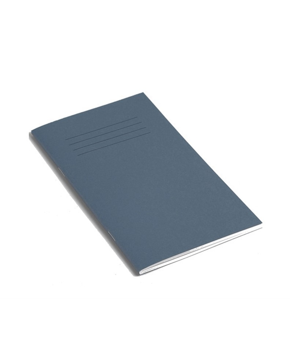 Exercise Book 8 x 4.5 (203 x 115mm) Dark Blue Cover 8mm Ruled 80 Pages