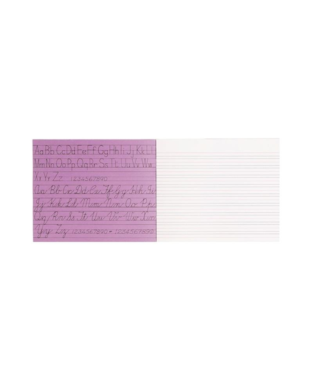 Exercise Book 6.25 x 8 (160 x 203mm) Purple Cover 4mm Grey Lines Centred, 15mm Red Lines 32 Pages