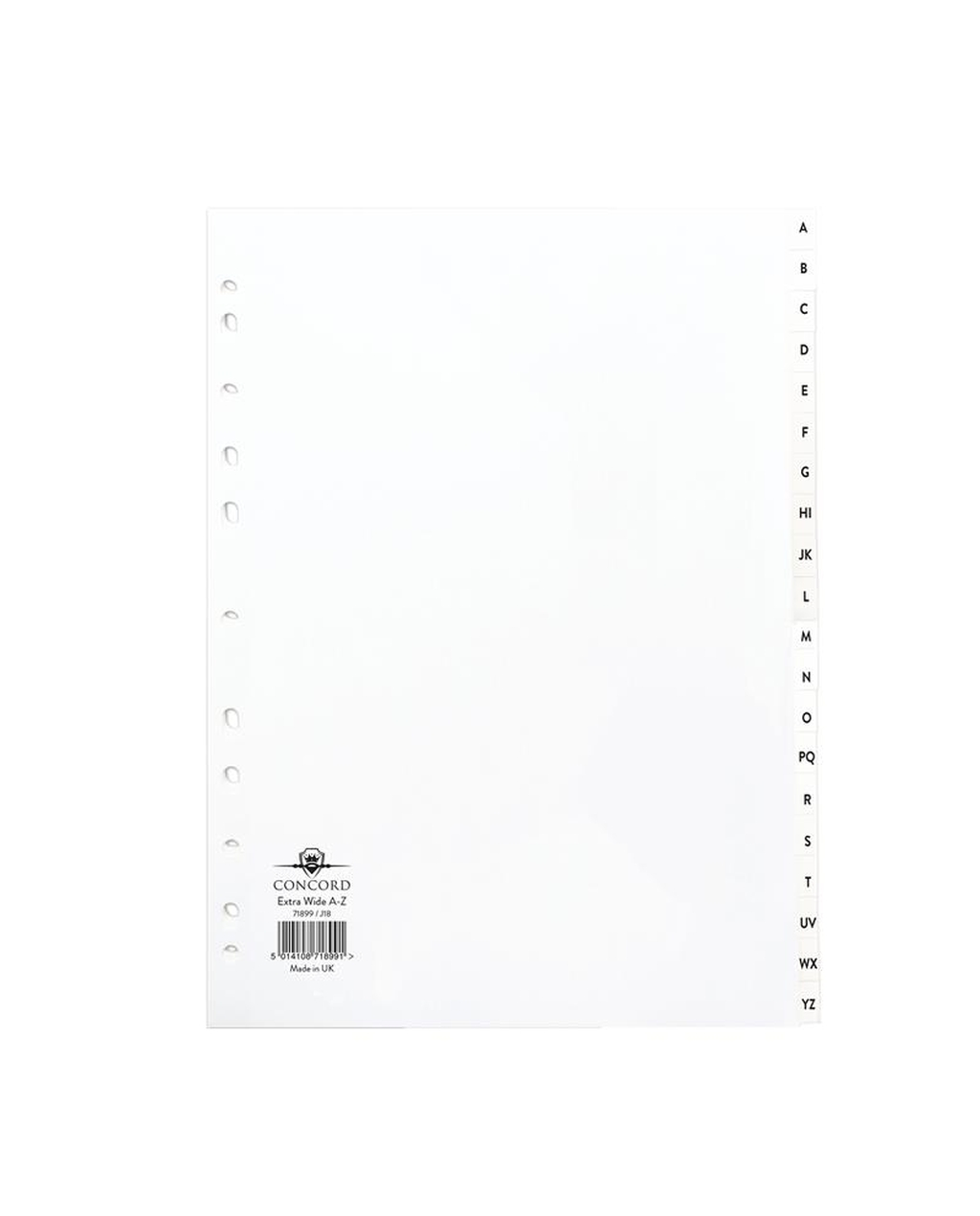 A4 Extra Wide A-Z Dividers