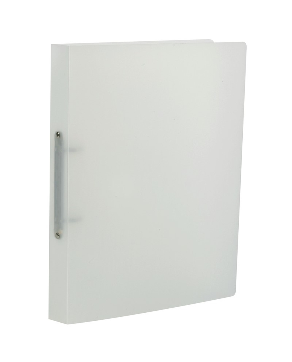 A4 2 Hole Frosted Polypropylene Ring Binder - Natural