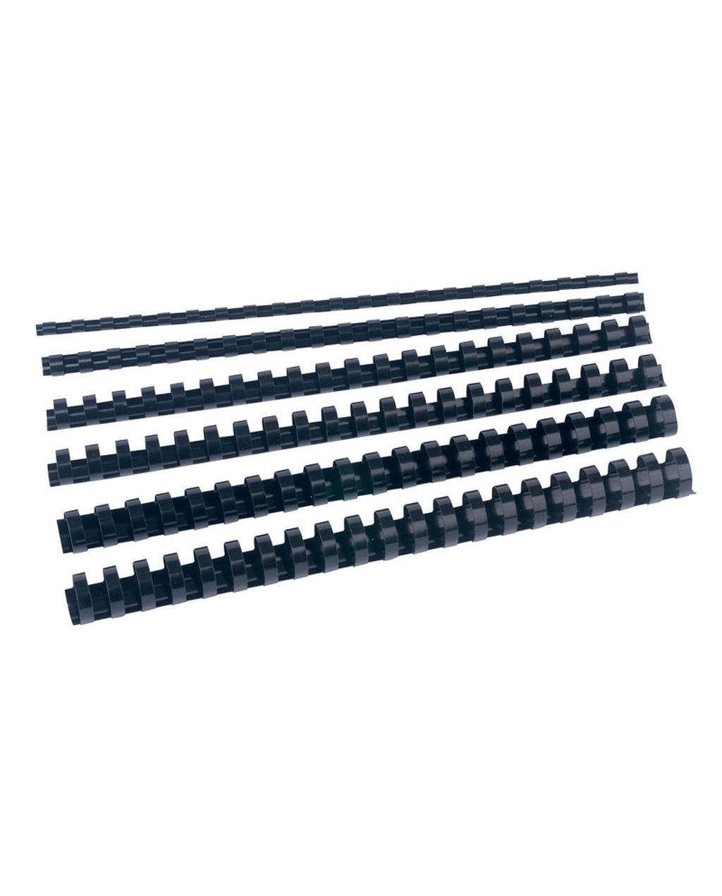 Black Plastic Combs 6mm Dia