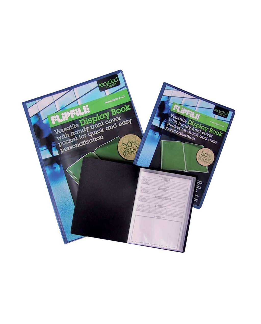 A4 FlipFile Display Books - 20 Pockets