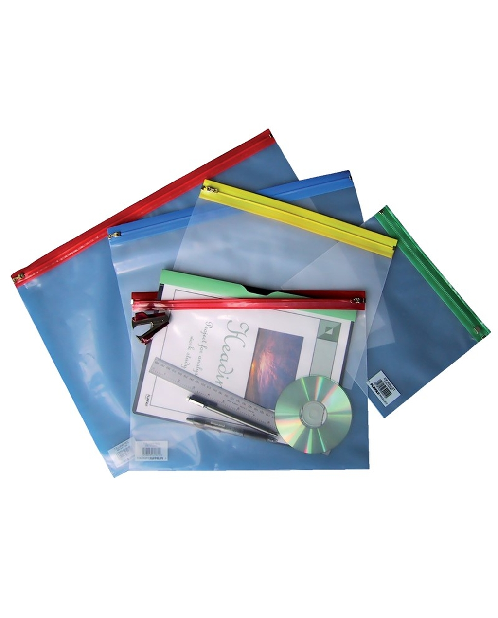 A4+ Zip Wallets - Assorted Colours