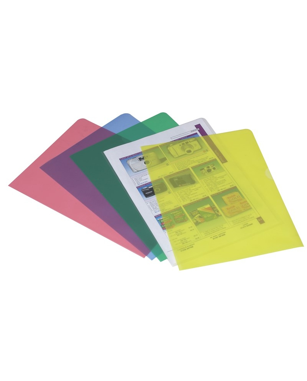 A4 Cut Flush Folders - Yellow