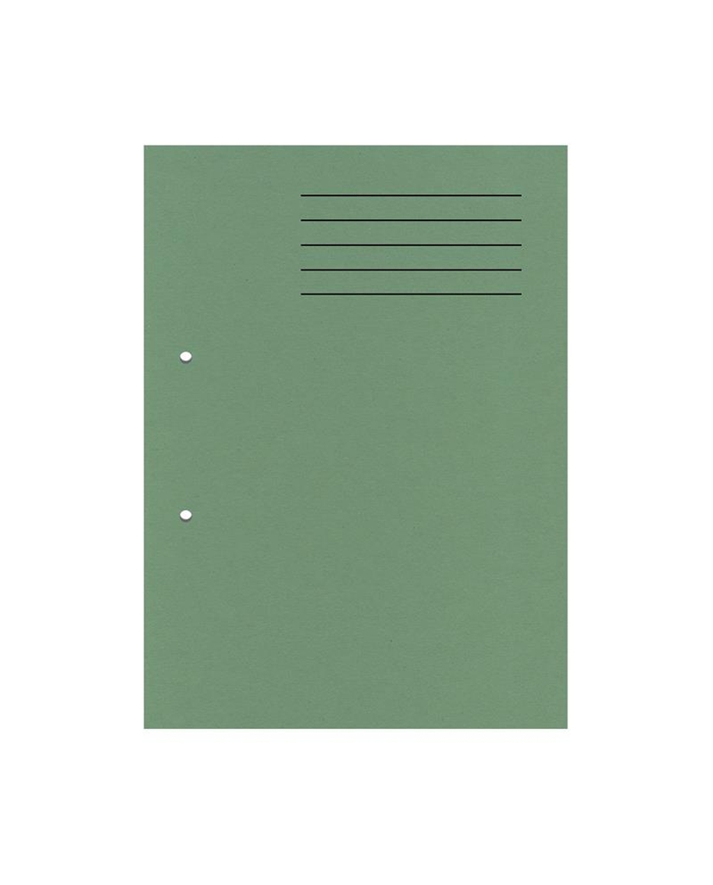 A4 Cut Flush Punched Folders - Green