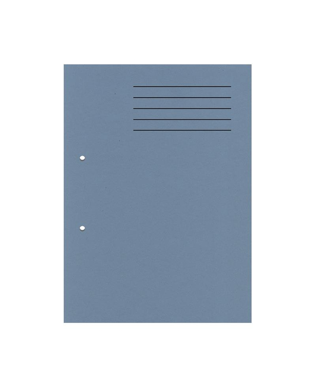 A4 Cut Flush Punched Folders - Blue