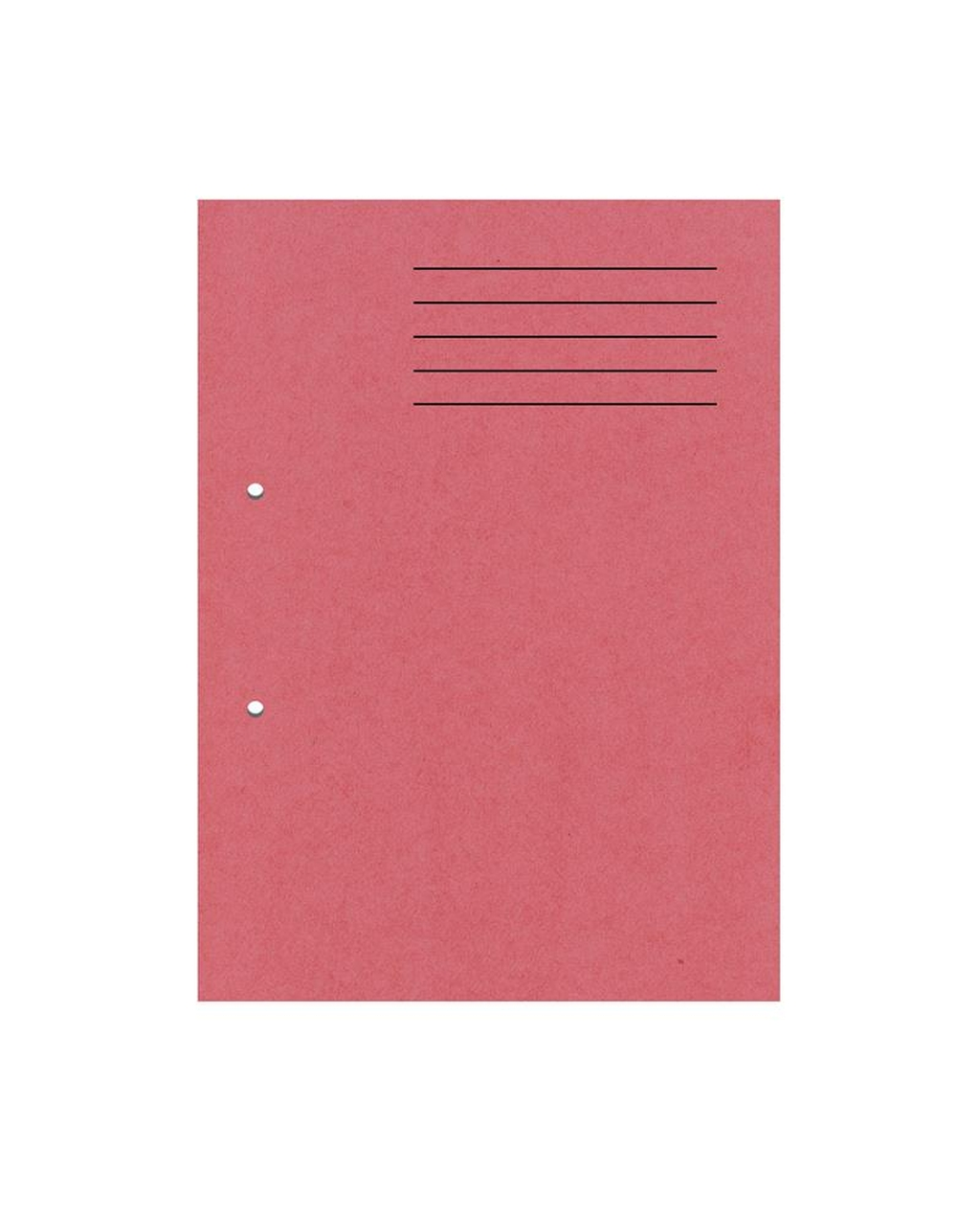 A4 Cut Flush Punched Folders - Red
