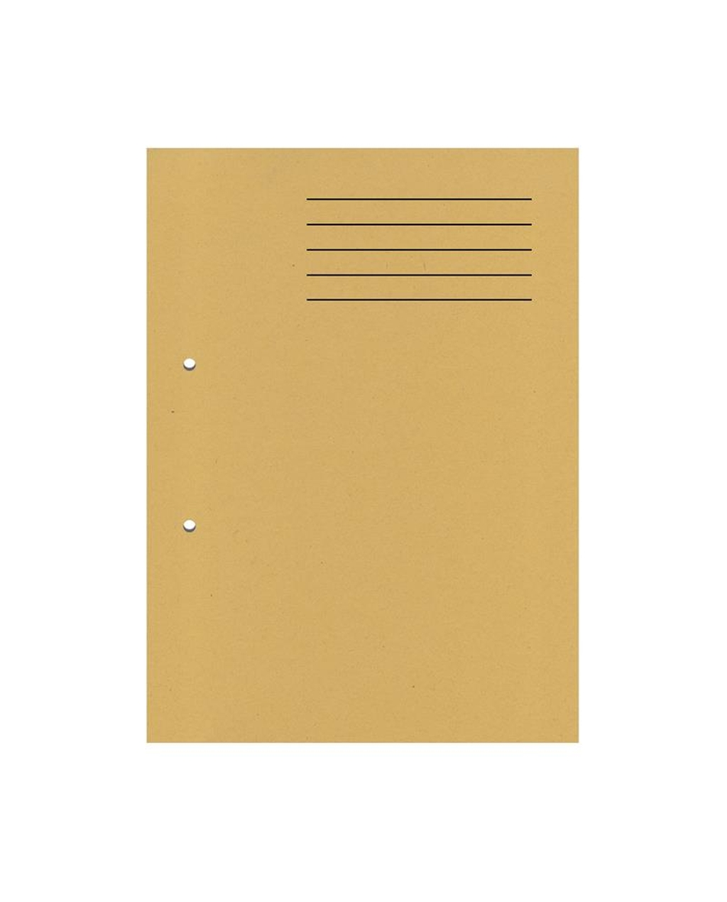 A4 Cut Flush Punched Folders - Yellow
